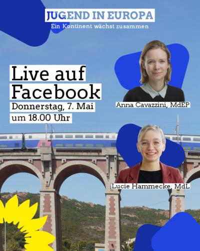 Facebook-Live zur Europawoche mit Lucie Hammecke, MdL @ Facebook