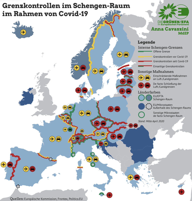 Grenzen Europa Corona