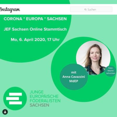 Corona.Europa.Sachsen - JEF Sachsen Online Stammtisch @ online. Einwahldaten per Emailanmeldung