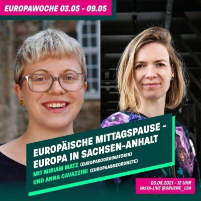 Europäische Mittagspause - Europa in Sachsen-Anhalt @ https://www.instagram.com/gruene_lsa/