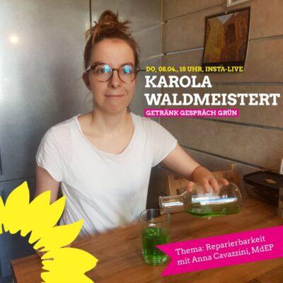 """""""Karola waldmeistert..."""" zu Elektroschrott & Reparierbarkeit mit Anna Cavazzini, MdEP @ Instagram https://www.instagram.com/ka_koepferl/"""