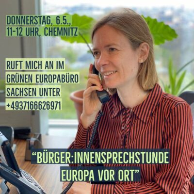 Bürger:innensprechstunde Europa vor Ort @ Ruft mich an unter 004937166626971